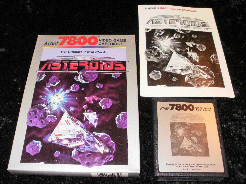 Asteroids - Atari 7800 - Complete CIB - 1988 Rerelease Version