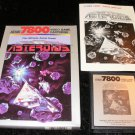 Asteroids - Atari 7800 - Complete CIB - 1988 Rerelease Version