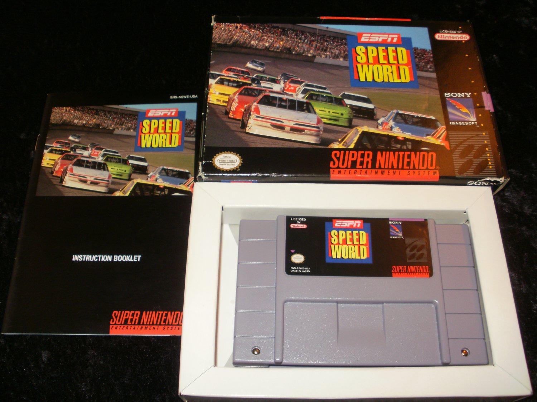 ESPN Speed World - SNES Super Nintendo - Complete CIB