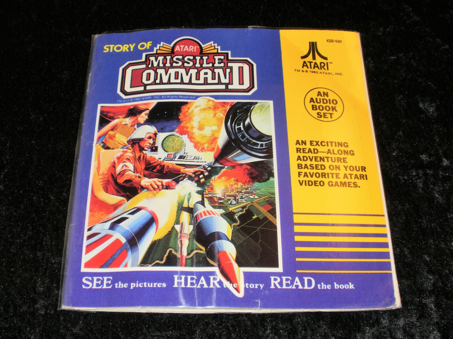 Story of Atari Missile Command - 33 1/3 RPM Record - Kid Stuff Records 1982 - Laminated