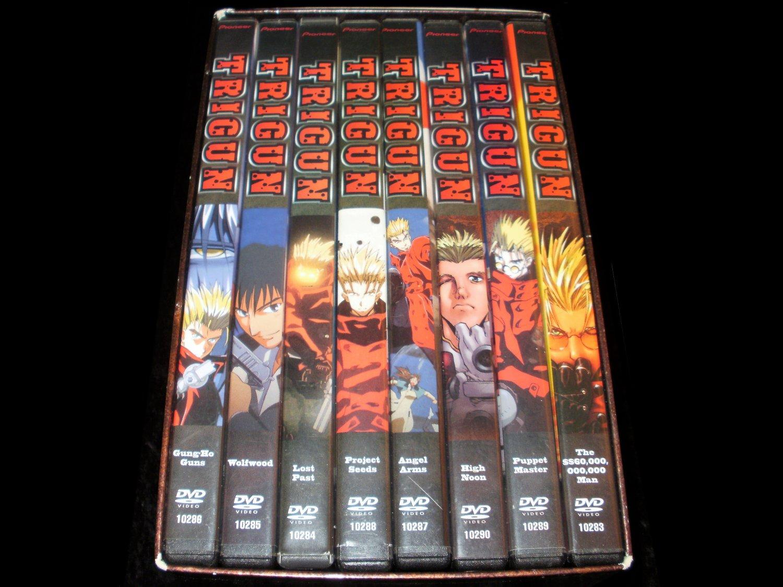 Trigun Complete Series Boxed Set - 8 DVD Box Set - Complete IN Box CIB