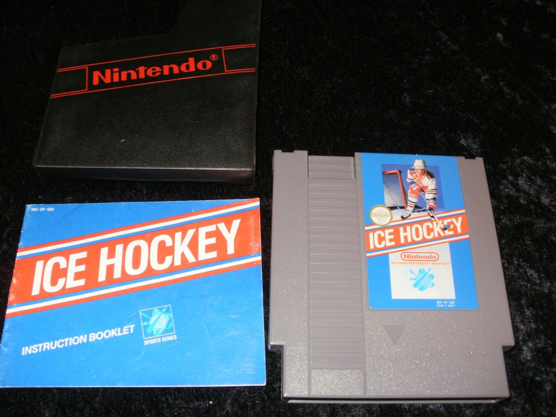 Ice Hockey - Nintendo NES -  With Manual and Cartridge Sleeve
