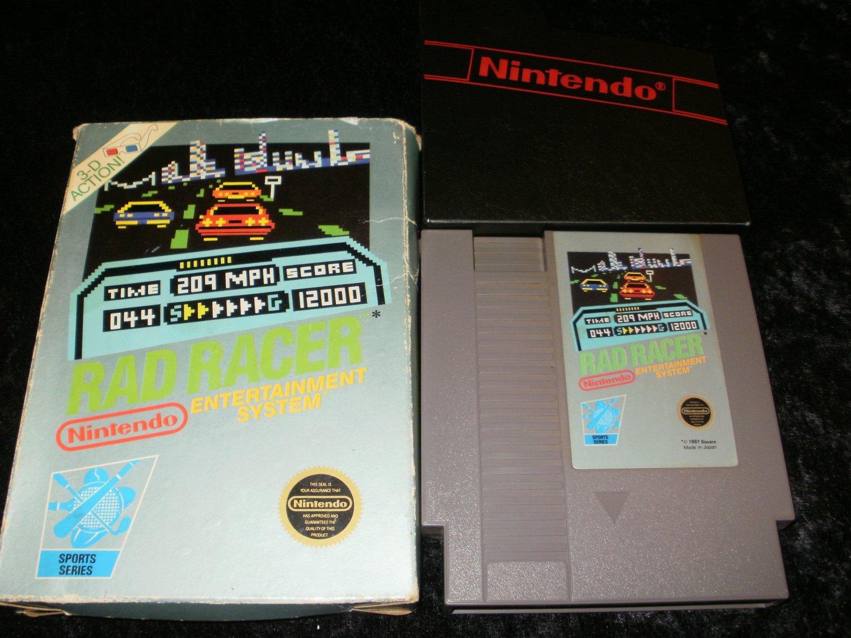 Rad Racer - Nintendo NES - With Box and Cartridge Sleeve