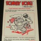 Donkey Kong - Atari 2600 - 1982 Manual Only