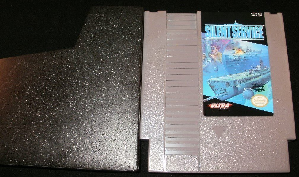 Silent Service - Nintendo NES - With Cartridge Sleeve