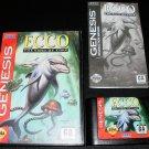 Ecco The Tides of Time - Sega Genesis - Complete CIB - Original 1994 Release