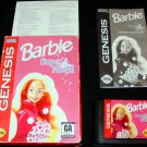 Barbie Super Model - Sega Genesis - Complete CIB - 1997 Majesco Version