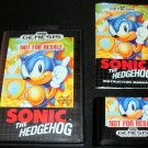 Sonic the Hedgehog - Sega Genesis - Complete CIB - Not For Resale Version