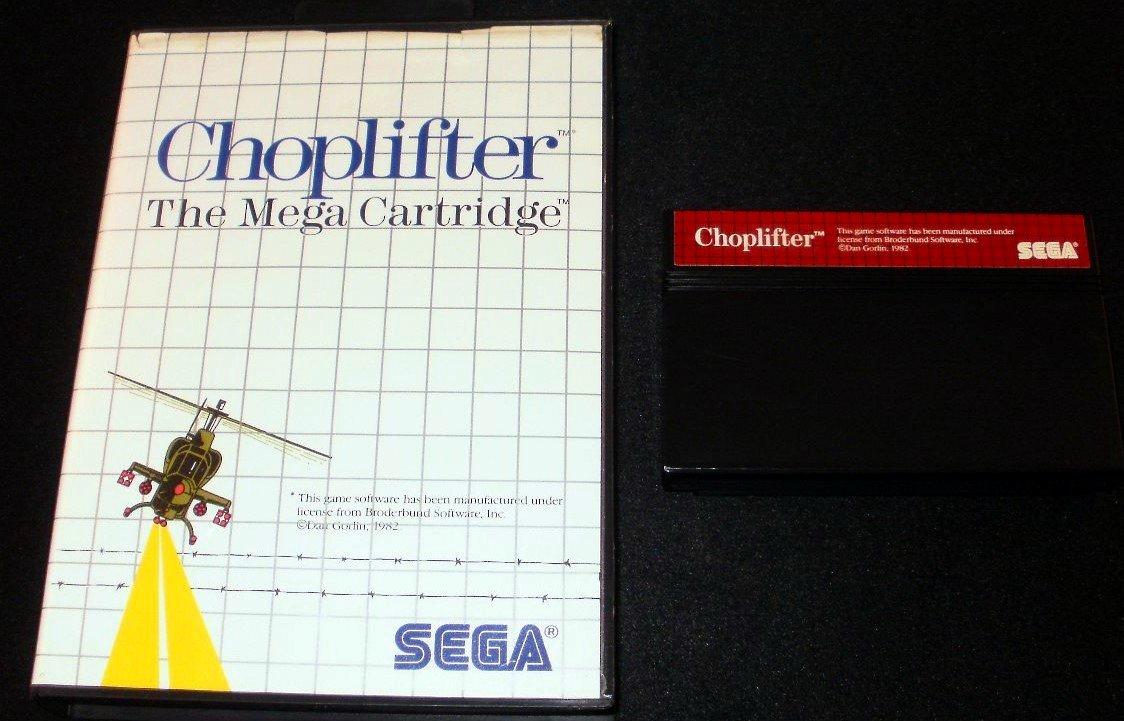 Choplifter - Sega Master System - With Box