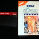 California Games - Sega Master System - With Box