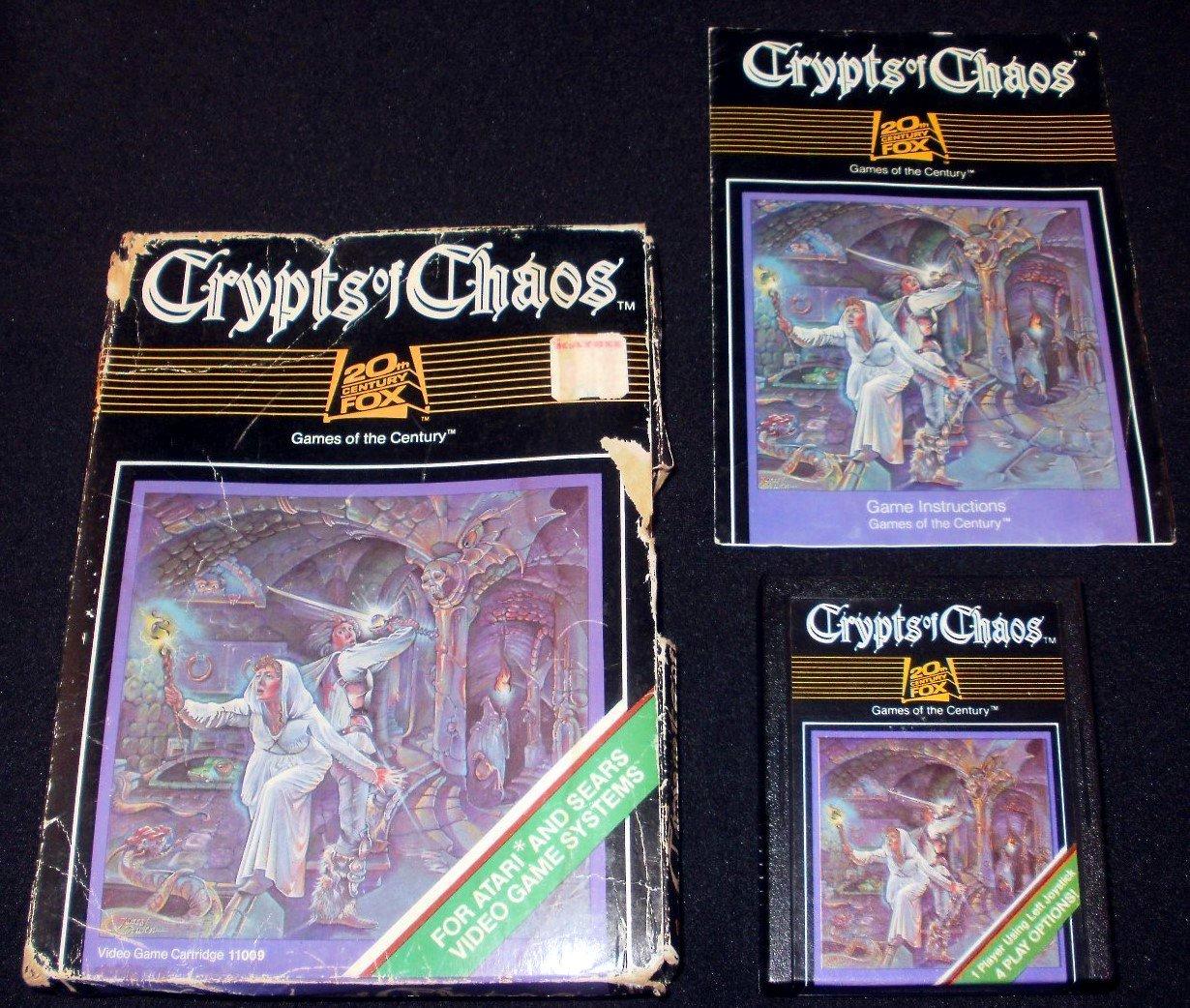 Crypts of Chaos - Atari 2600 - Complete CIB - Rare