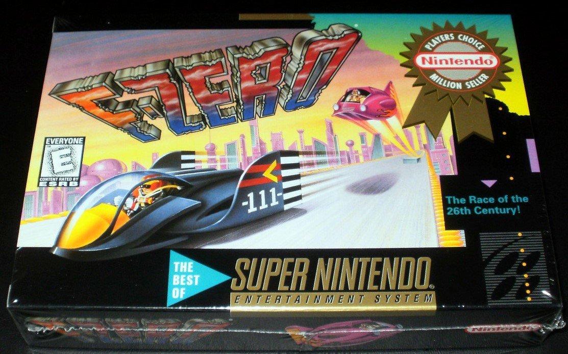 F-Zero - SNES Super Nintendo - Brand New Factory Sealed - Million Seller Rated E Version