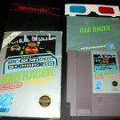 Rad Racer - Nintendo NES - Complete CIB - Rare With 3D Glasses