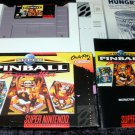 Super Pinball Behind the Mask - Super Nintendo - Complete