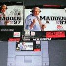 Madden 97 - SNES Super Nintendo - Complete CIB