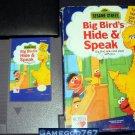 Sesame Street Big Bird's Hide & Speak - Nintendo NES - With Box and Cartridge Sleeve