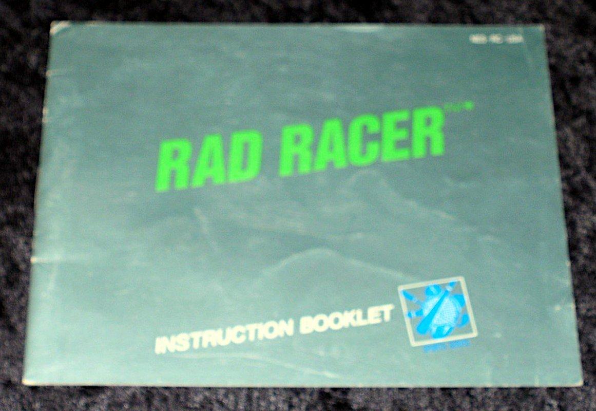 Rad Racer - Nintendo NES - Manual Only