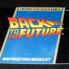 Back to the Future - Nintendo NES - Manual Only
