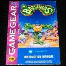 Battletoads - Sega Game Gear - 1993 Manual Only - Rare