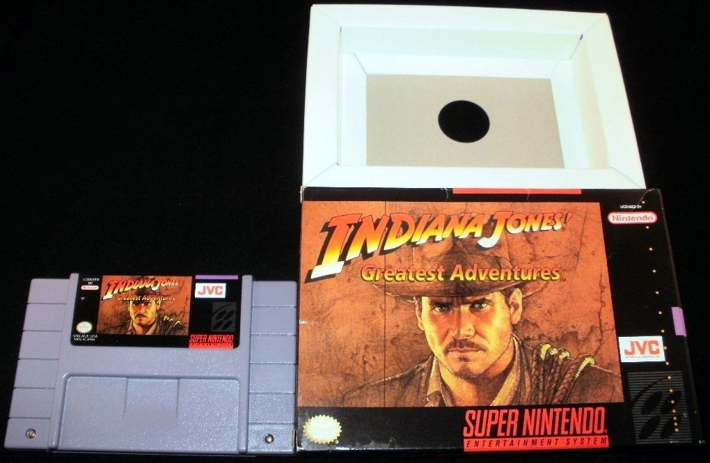 Indiana Jones' Greatest Adventures - SNES Super Nintendo - With Box