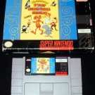 Adventures of Rocky and Bullwinkle - SNES Super Nintendo - With Box