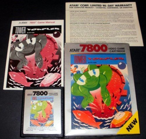 Tower Toppler - Atari 7800 - Complete