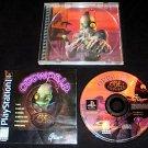 Oddworld Abe's Oddysee - Sony PS1 - Complete CIB - Original 1997 Black Label Release