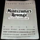 Montezuma's Revenge - ColecoVision - Manual Only - Rare