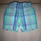 Green Madras Plaid Shorts