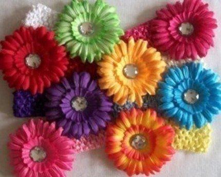 Stretch Headband with daisy