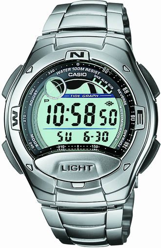 Casio Tide and Moon Phase Digital Sport Watch W753D-1