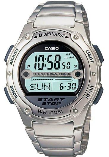 Casio Referee Timer Sport Watch W-756D-7AV Steel New
