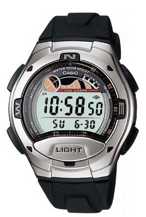 Casio Tide Moon Phase Digital Sport Watch W753-1AV New