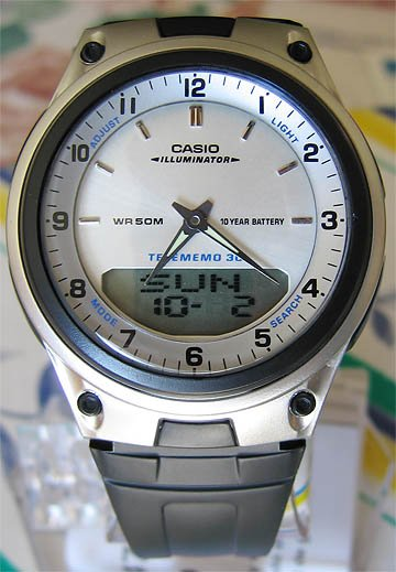Casio White Databank Duo World Time Watch AW80-7AV New