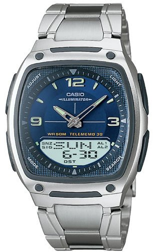 Casio Databank Duo World Time Watch Steel Band AW81D-2