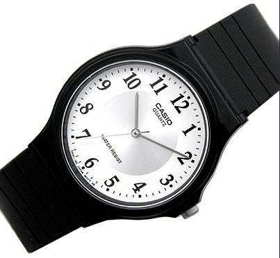 Casio Thin White Analog Watch MQ24-7B3 NEW 2006