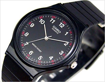 Casio Thin Black Analog Watch MQ24-1B BRAND NEW