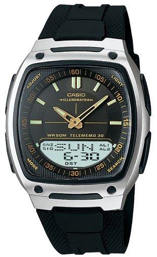 Casio Databank Duo World Time Analog Digital Watch AW81-1A2V
