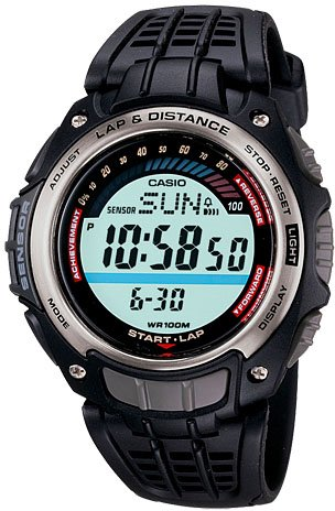 Casio Pedometer Step Counting Lap Watch SGW200-1 New