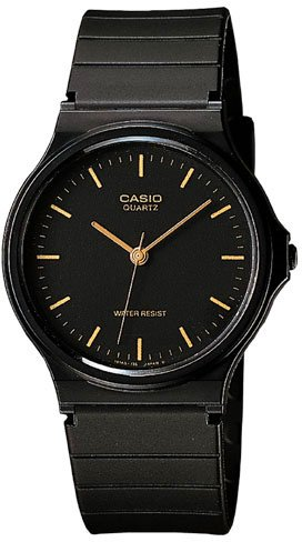 Casio Thin Black Analog Watch MQ24-1E NEW
