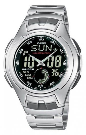 New Casio Black Active Dial World Time Watch AQ160WD-1