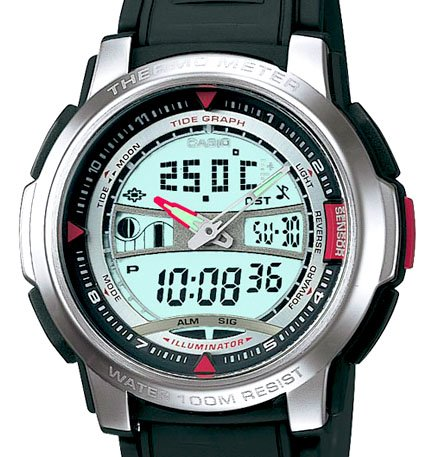Casio Pathfinder Thermometer Moon Tide Watch AQF100W-7 New