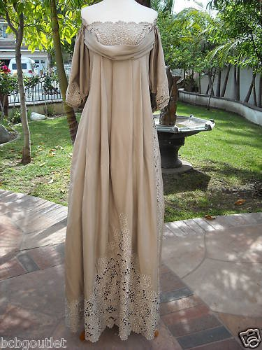 BCBG RUNWAY OFF-SHOULDER LACE PARTY GOWN Size L NWT $1430