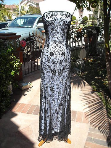 CACHE STRAPLESS FANCY BEADED DRESS NWT Size 0  $300