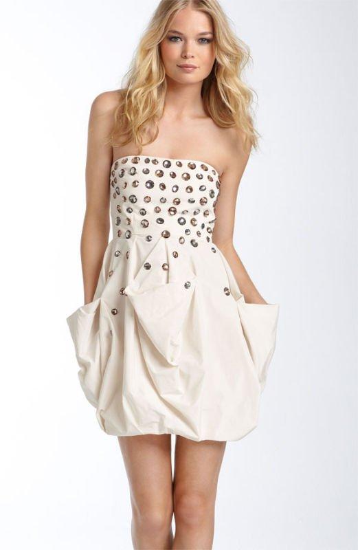 $348 BCBG COROZO TAFFETA BEJEWELED DRESS Size 6 NWT