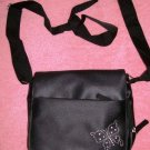 Black Purse with Butterfly Applique