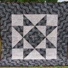 Black and Gray Bandana Star Quilt