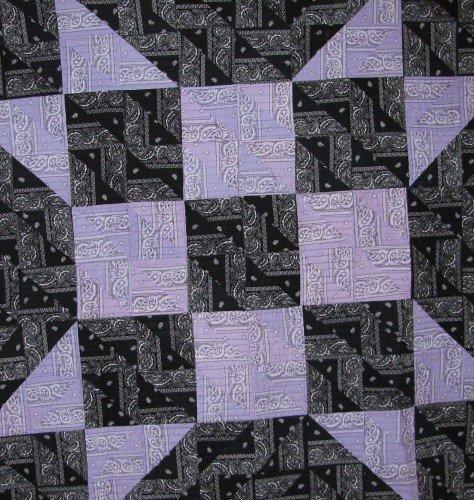 Unique Purple and Black Quilt
