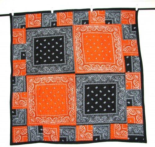 Orange and Black Bandana Quilt