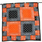 Orange and Black Bandana Quilt